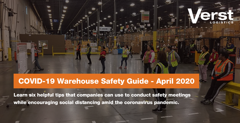 COVID19 Warehouse Safety Guide: Meeting Topics & Calendar - April 2020