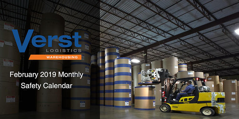 February 2019 Monthly Warehouse Safety Calendar