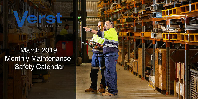 March 2019 Maintenance Safety Calendar