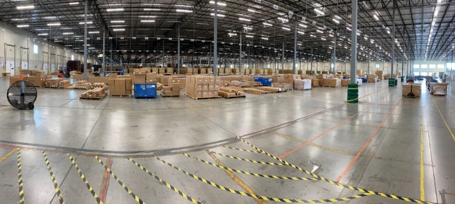 inside of parts distribution center operated by Verst Logistics in Hebron, KY