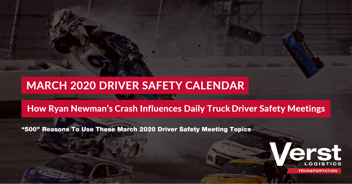 March 2020 Driver Safety Calendar & Topics for Discussion