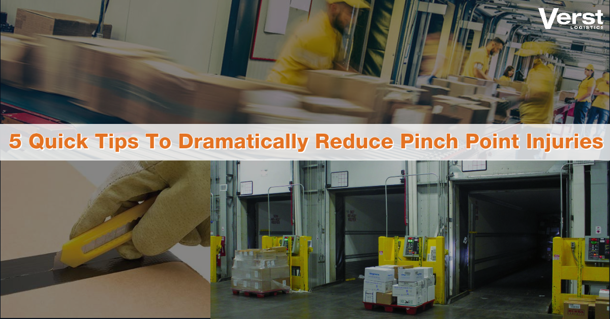 Pinch Points & Hydration Safety Tips & Tricks To Reduce Injuries in Warehouse Operations - August 2020 & How to Mitigate Risks
