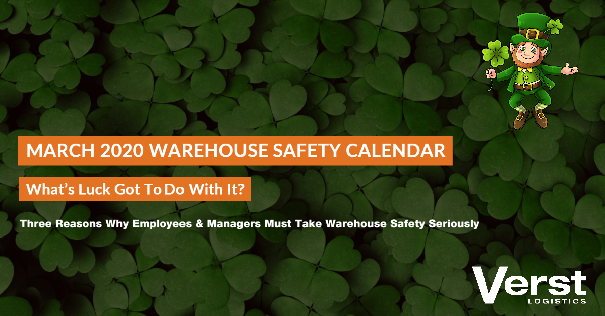 2020 Warehouse Safety Calendar & Topics For Discussion