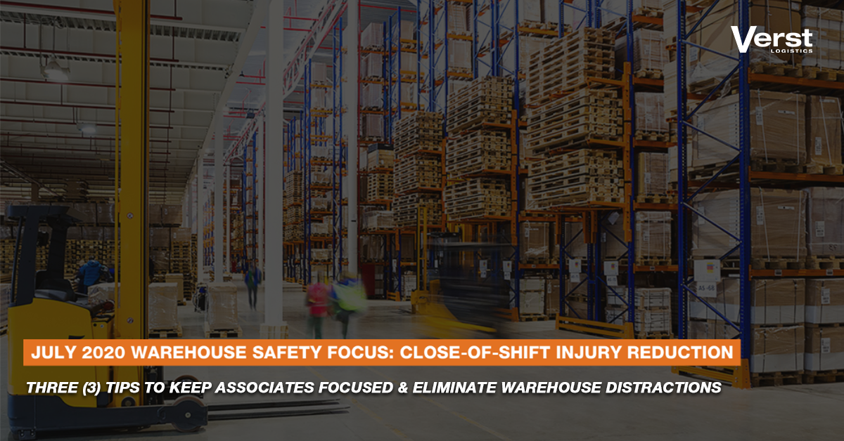 july 2020 warehouse safety calendar injury prevention for last two hours of shift